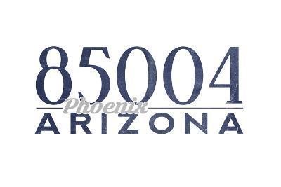 Phoenix, Arizona - 85004 Zip Code (Blue)-Lantern Press-Art Print