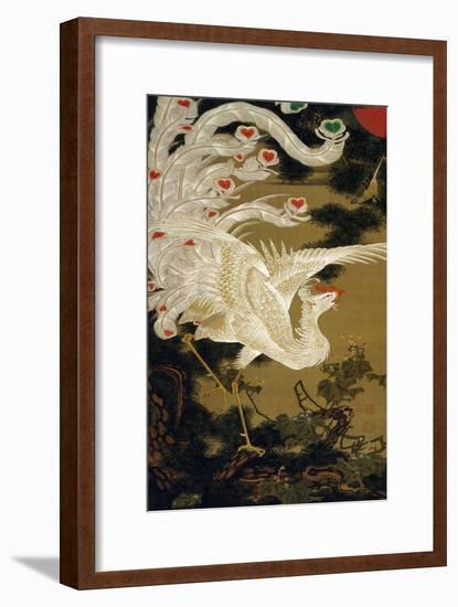 Phoenix on the Pine-Jakuchu Ito-Framed Giclee Print