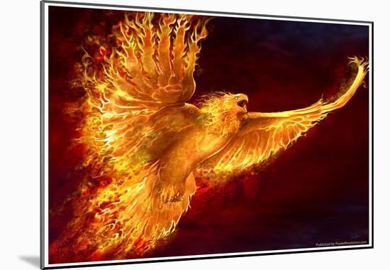 Phoenix Rising-Tom Wood-Mounted Print
