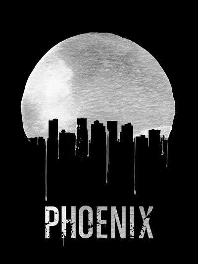 Phoenix Skyline Black--Art Print