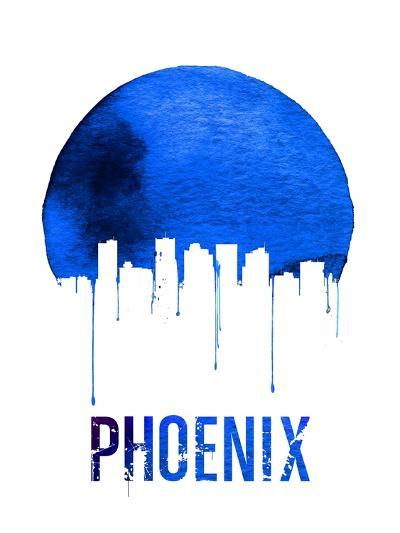 Phoenix Skyline Blue--Art Print