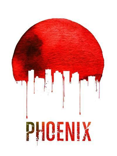 Phoenix Skyline Red--Art Print