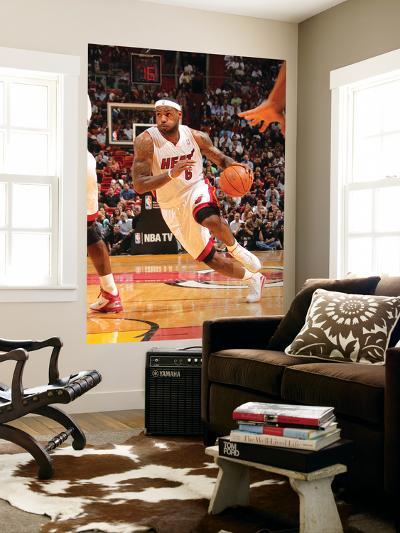 Phoenix Suns v Miami Heat: LeBron James-Victor Baldizon-Giant Art Print