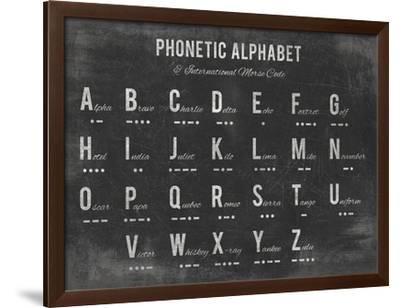 Phonetic Alphabet-The Vintage Collection-Framed Giclee Print