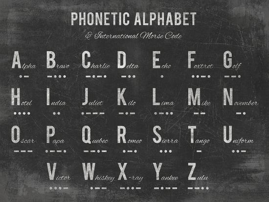 Phonetic Alphabet-The Vintage Collection-Giclee Print