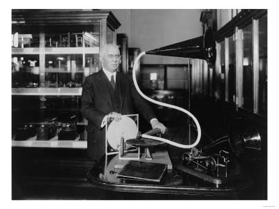 Phonograph Inventor Emile Berliner Photograph-Lantern Press-Art Print