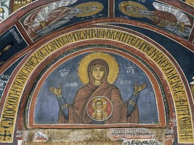 Phorbiotissa Panagia, Our Lady of Christ in Medallion, Fresco--Giclee Print