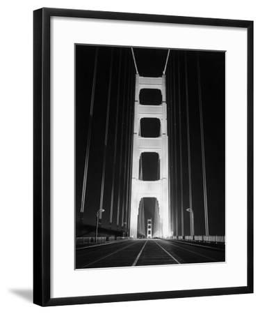1937 Golden Gate Bridge at Night Poster
