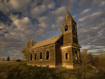 Photo of Abandoned Glucksdahl Lutheran Church-Phil Schermeister-Photographic Print