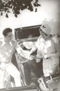 Photo of Couple with Tennis Racket