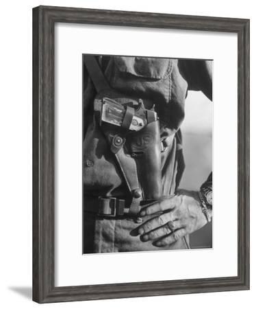 Photo of Lt. John Ernser's girlfriend, Leader of Infantry, Attack in German Fortification Positions-Margaret Bourke-White-Framed Premium Photographic Print