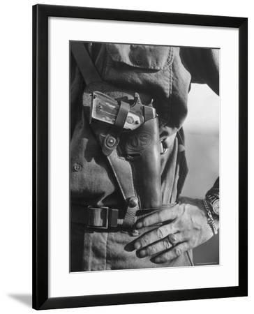Photo of Lt. John Ernser's girlfriend, Leader of Infantry, Attack in German Fortification Positions-Margaret Bourke-White-Framed Photographic Print