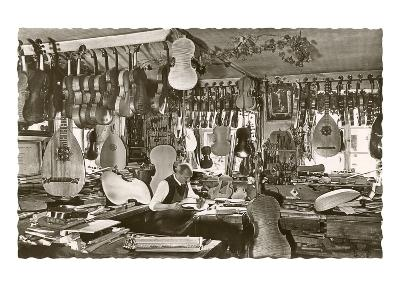 Photo of Luthier's Workshop--Art Print