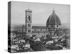 Photo Showing the Duomo Cathedral of Florence and Surrounding Area