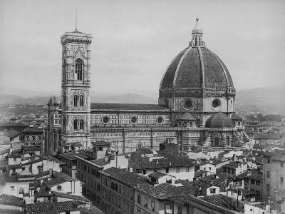 Photo Showing the Duomo Cathedral of Florence and Surrounding Area--Photographic Print