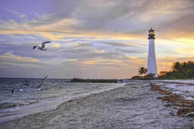 Good Night Cape Florida Lighthouse by Photo taken by Crawford A. Wilson III