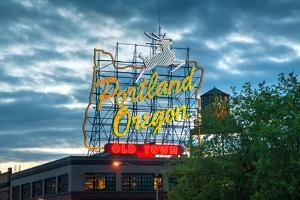 Famous Old Town Portland, Oregon Neon Sign by photo ua