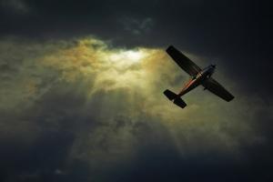 Cessna 172 Airplane by photograph by Anastasiya Fursova