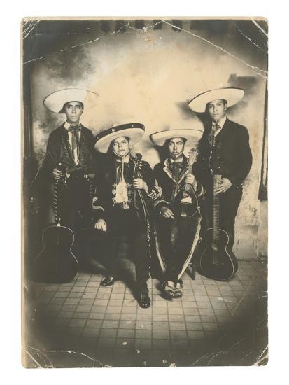Photograph of Mariachis--Art Print