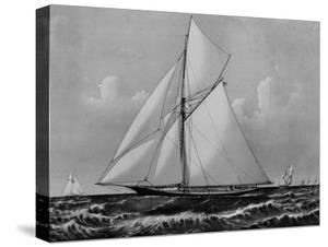 Photograph of Sketch of the Thistle, the Losing Scottish Entry in Race for America's Cup in 1887