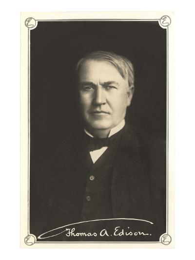 Photograph of Thomas Edison--Art Print