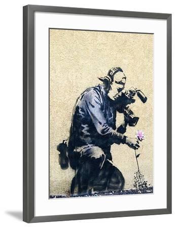 Photographer Flower-Banksy-Framed Giclee Print