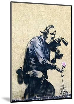 Photographer Flower-Banksy-Mounted Giclee Print
