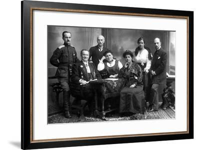 Photographer Karl Bulla with His Family, 1914--Framed Photographic Print