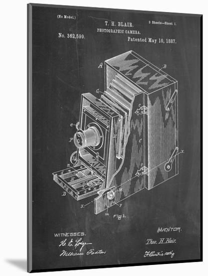 Photographic Camera 1887 Patent--Mounted Print