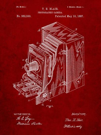 Photographic Camera 1887 Patent-Cole Borders-Art Print