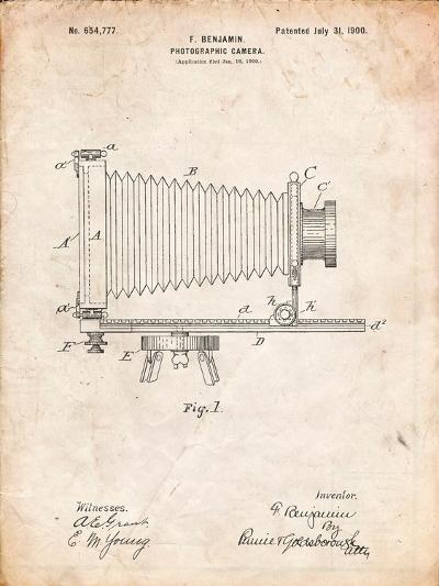 Photographic Camera Patent-Cole Borders-Art Print
