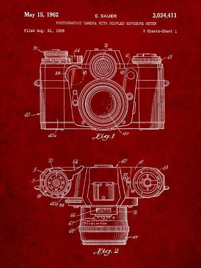 Photographic Camera Patent-Cole Borders-Art Print