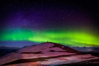 Photographing the Auroras and Icebergs at the Glacial Lagoon, Jokulsarlon Breidamerkurjokull--Photographic Print