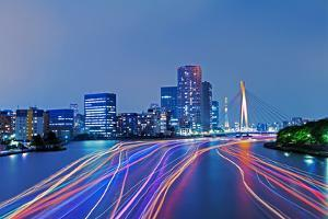 Night View of Tokyo at Night by Photography by ZhangXun