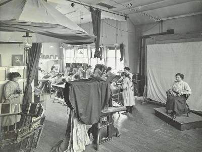 Photography Students at Work, Bloomsbury Trade School for Girls, London, 1911--Photographic Print