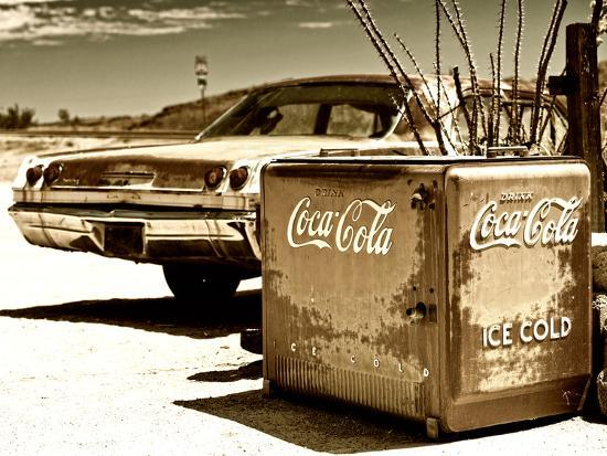 Photography Style, Route 66, Gas Station, Arizona, United States, USA-Philippe Hugonnard-Photographic Print