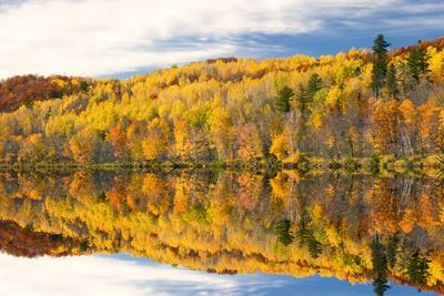 Autumn Colors Reflected in Lake, Minnesota, USA