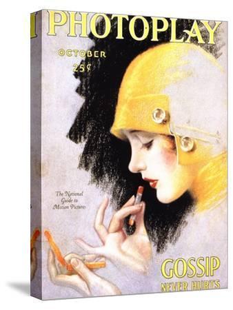Photoplay Lipsticks Putting On Magazine, USA, 1920