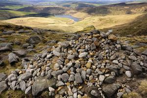 Kinder Scout Cairn by Photos by R A Kearton