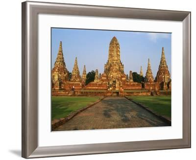 Phra Nakhon Si Ayutthaya, Wat Chai Wattanaram, Thailand-Bruno Morandi-Framed Photographic Print