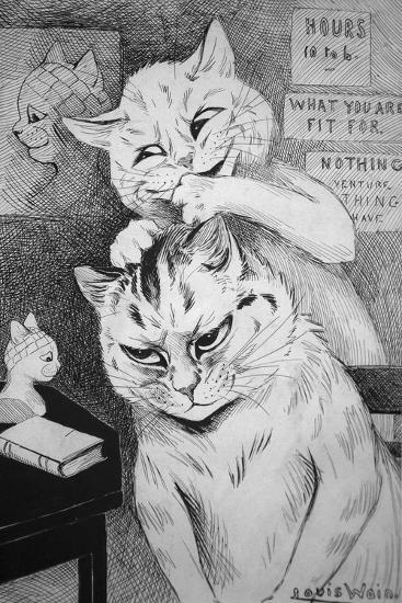 Phrenology, C.1911-Louis Wain-Giclee Print