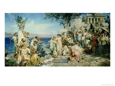 Phryne at the Festival of Poseidon in Eleusin-Henryk Siemieradzki-Giclee Print
