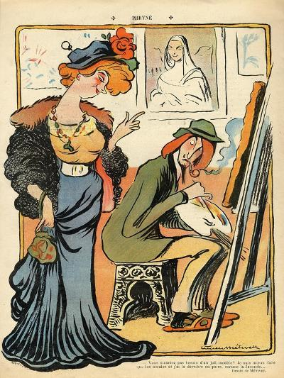 Phryne: Caricature of an Artist's Model, from the Back Cover of 'Le Rire', 23rd February 1907- Metivet-Giclee Print