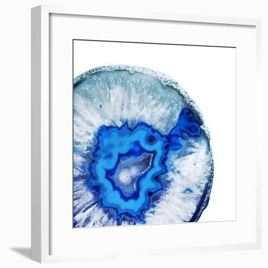 Phthalo Blue Agate A--Framed Premium Photographic Print