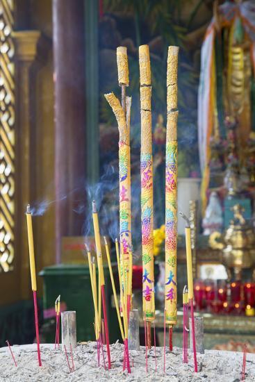 Phuoc an Hoi Quan Pagoda, Cholon, Ho Chi Minh City, Vietnam, Indochina, Southeast Asia, Asia-Ian Trower-Photographic Print