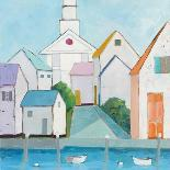 Cottage by the Sea Neutral-Phyllis Adams-Art Print