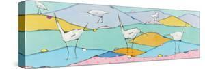 Marsh Egrets I Pink Sand by Phyllis Adams