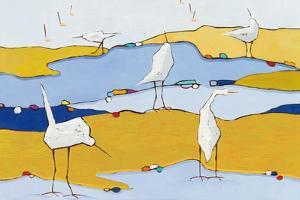 Marsh Egrets VI by Phyllis Adams