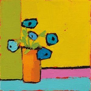 Orange Vase Bright by Phyllis Adams
