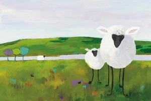 Sheep in the Meadow by Phyllis Adams